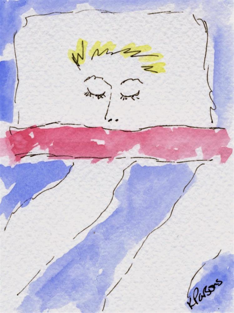 """""""Asleep"""" original fine art by Kali Parsons"""