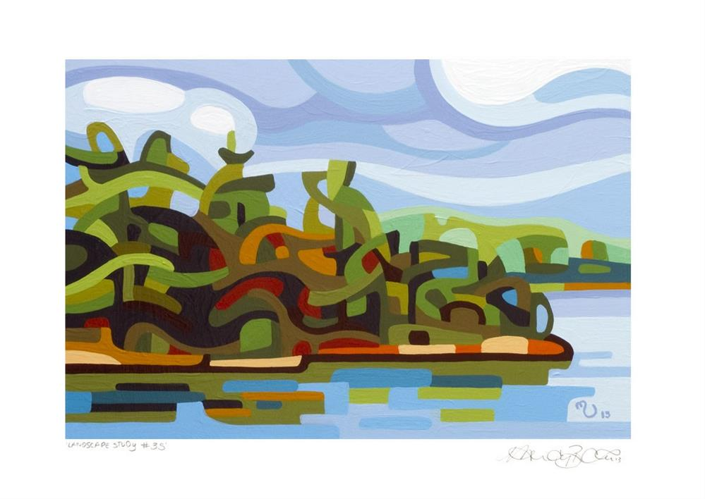 """Landscape Study #35"" original fine art by Mandy Budan"