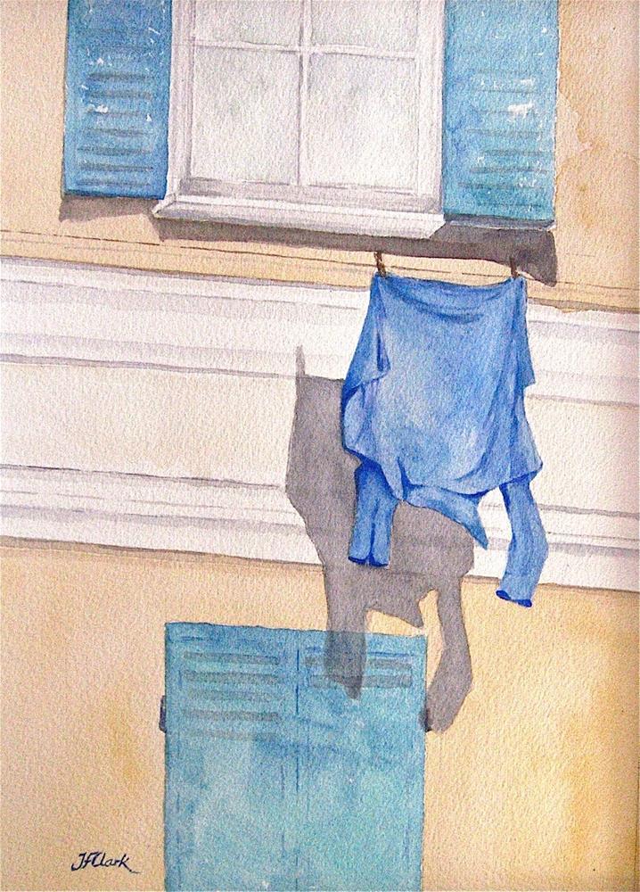 """""""The Blue Shirt"""" original fine art by Judith Freeman Clark"""