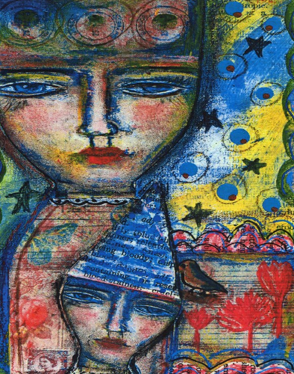 """""""Double Trouble"""" original fine art by Sonja Sandell"""