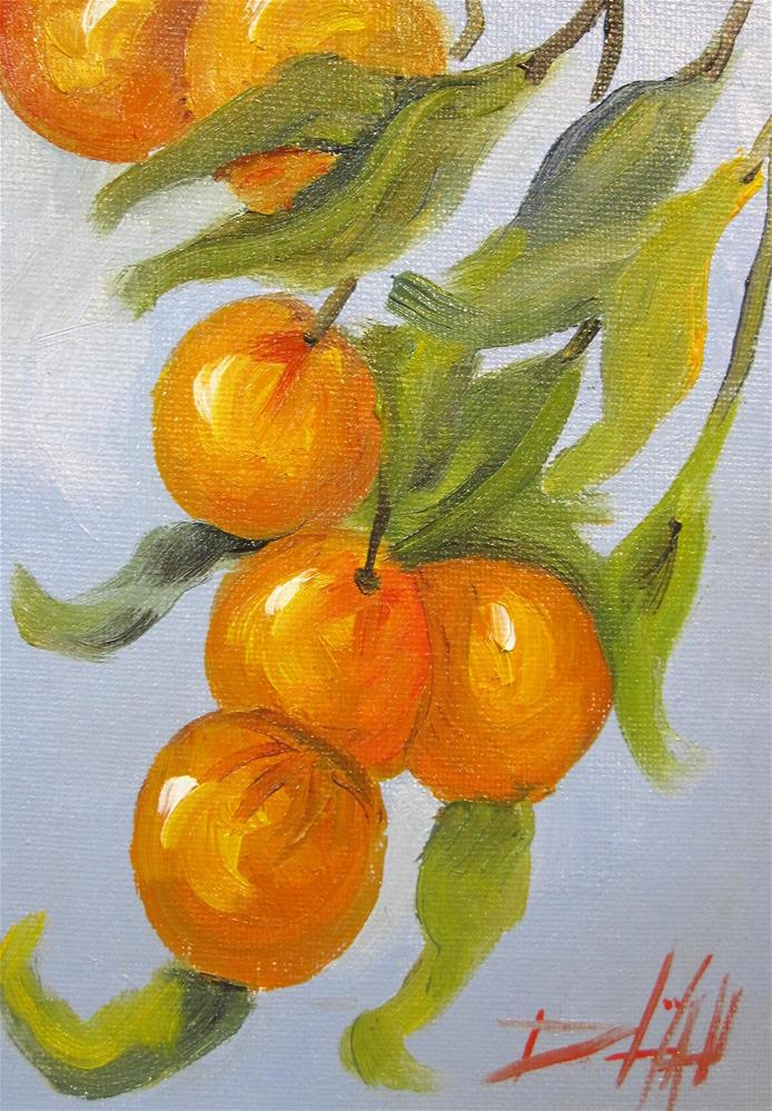 """Orange Tree"" original fine art by Delilah Smith"