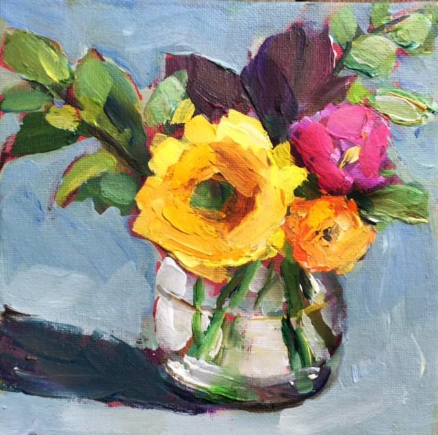 """Not So Mellow Yellow"" original fine art by Martha Lever"
