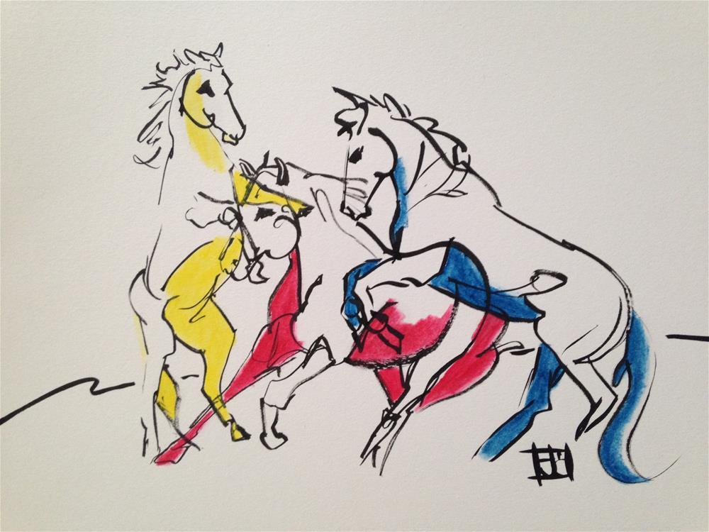 """horses"" original fine art by Arron McGuire"