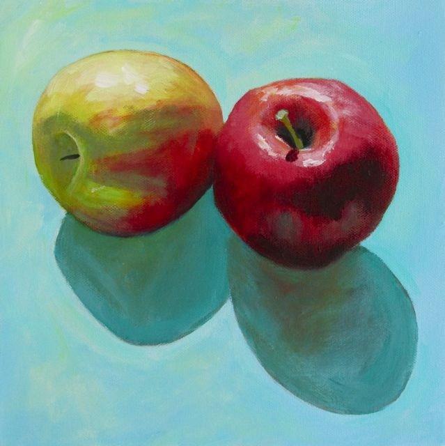 """Pomme Poms"" original fine art by Patricia MacDonald"