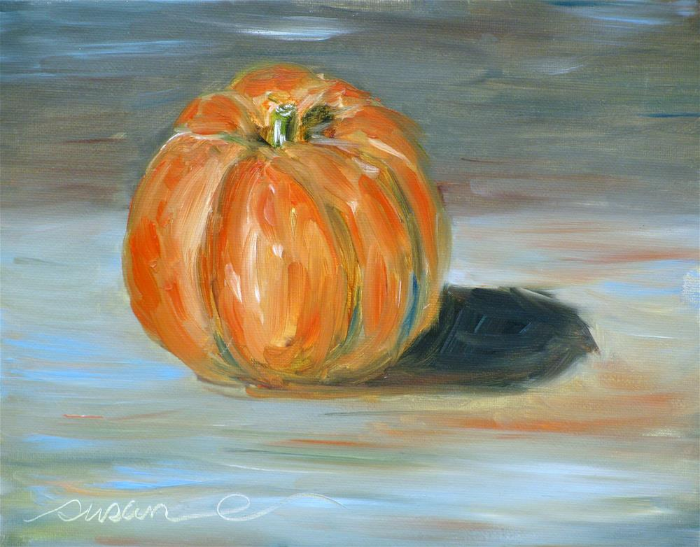 """Pumpkin - Class Demo"" original fine art by Susan Elizabeth Jones"