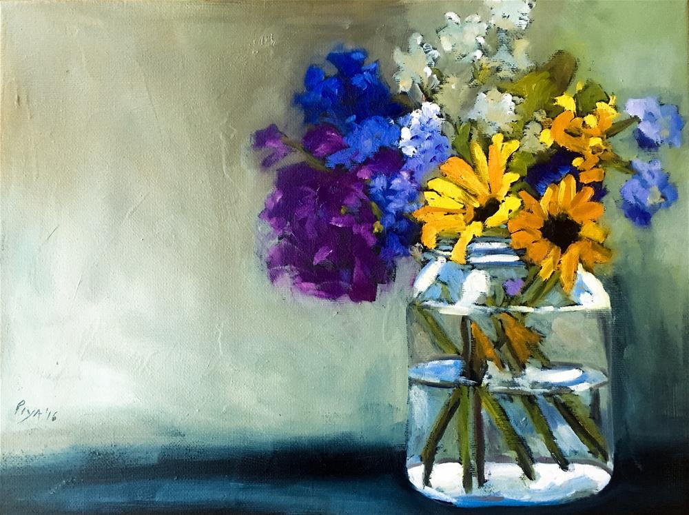 """Florals 11"" original fine art by Piya Samant"