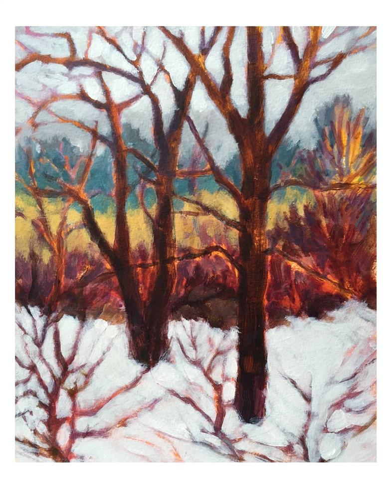 """""""April Snow Day 2"""" original fine art by Suzanne Woodward"""