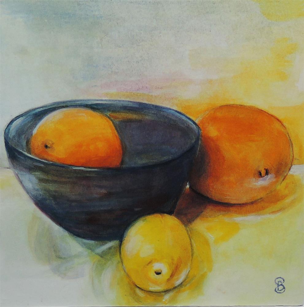 """""""Citrus Glow"""" original fine art by Belinda Scheber"""