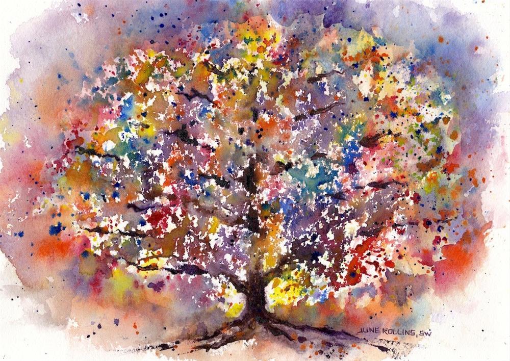 """Her True Colors"" original fine art by June Rollins"