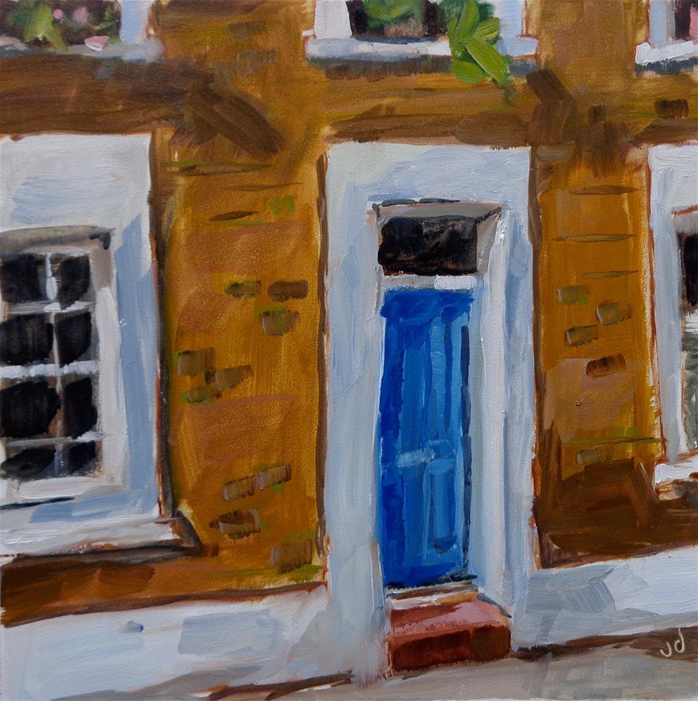 """""""BLUE DOOR"""" original fine art by Jean Delaney"""