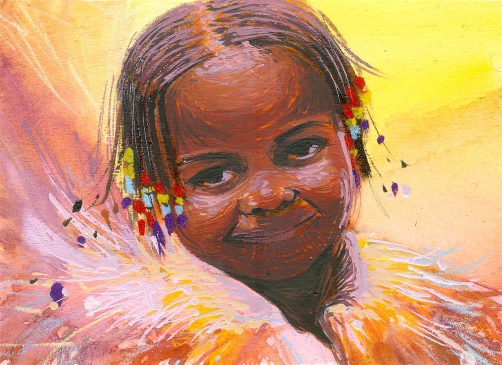 """The Sunshine She Brings"" original fine art by Adebanji Alade"