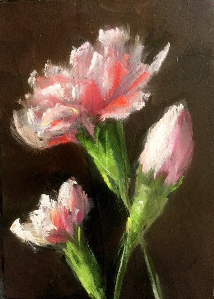"""Carnation Trio"" original fine art by Gary Bruton"