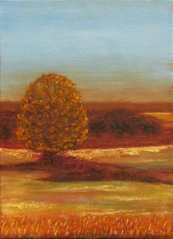 """Sienna Blues"" original fine art by Mary Sylvia Hines"
