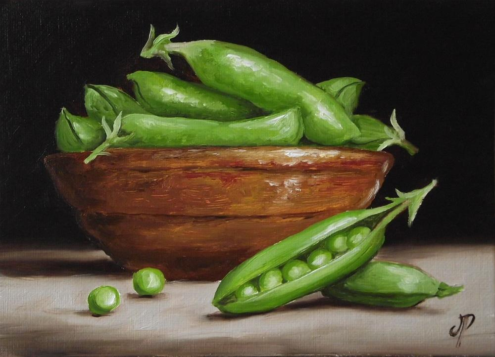 """Garden Peas"" original fine art by Jane Palmer"