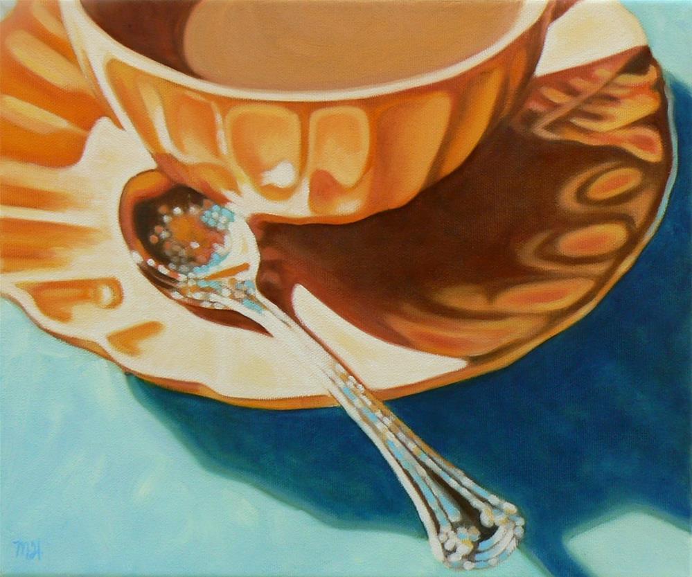 """Tea Break"" original fine art by Margaret Horvat"