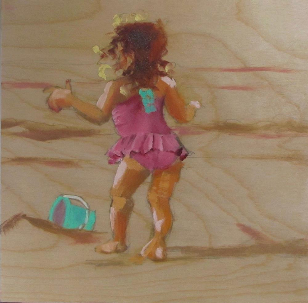 """Sand Play"" original fine art by Christine Holzschuh"
