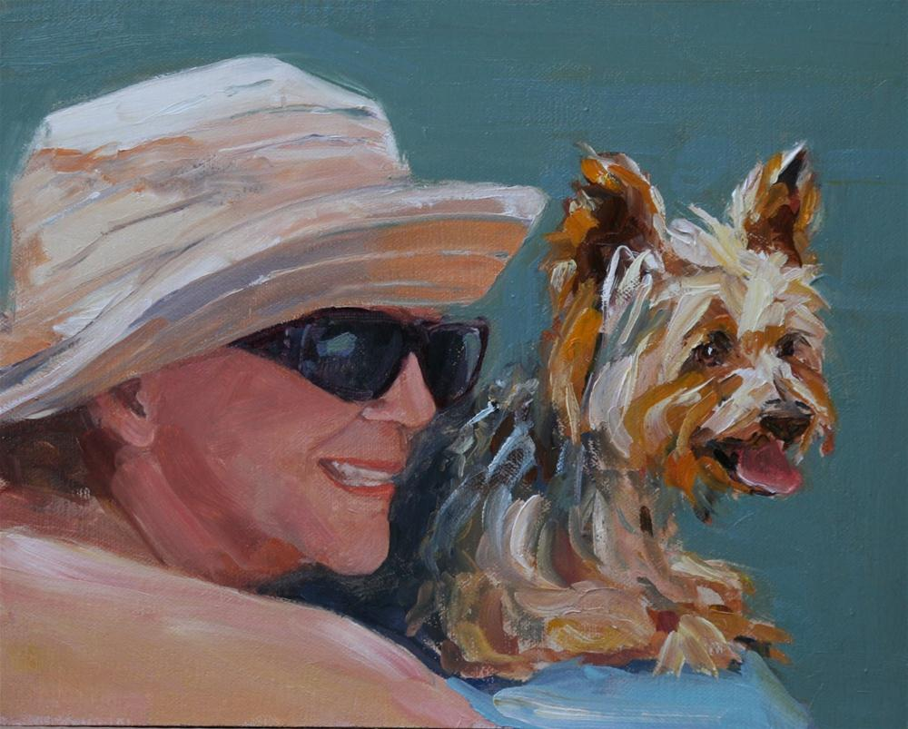 """girl's best friend"" original fine art by Carol Carmichael"
