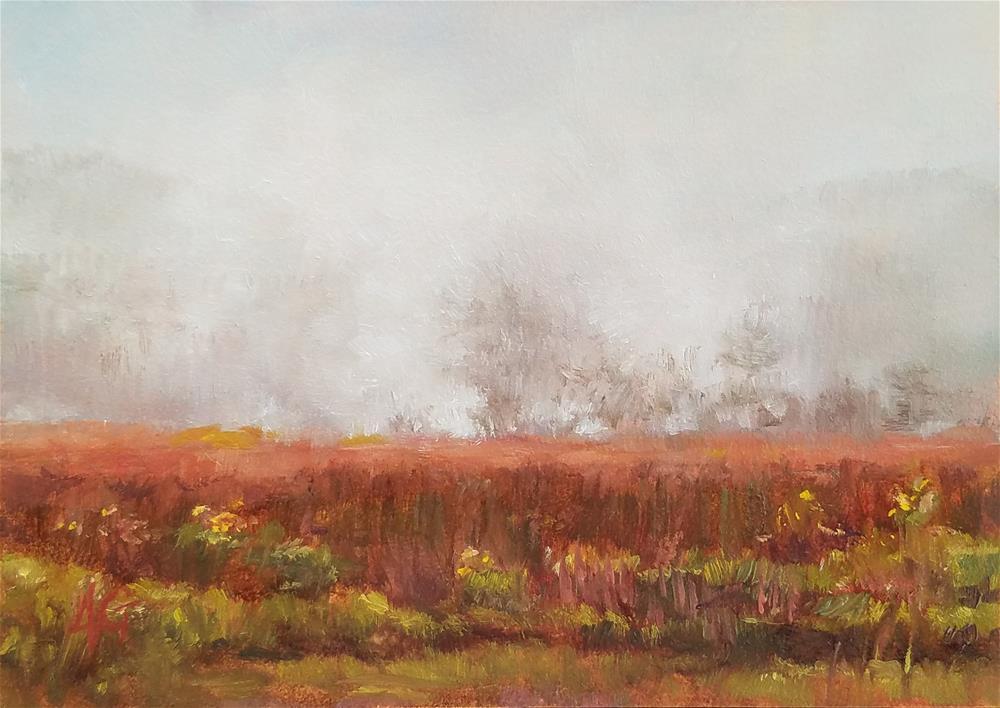 """Kilauea Volcanic Steam"" original fine art by Jeannie Garcia"