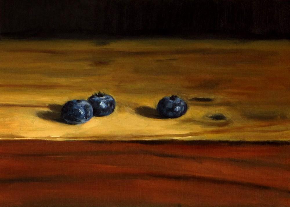 """3 Blueberries"" original fine art by Ulrike Miesen-Schuermann"