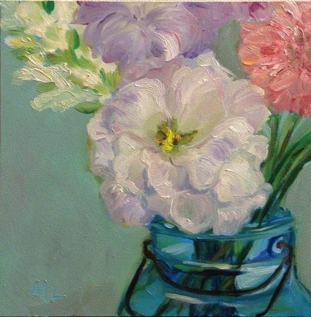 """""""Farmer's Market Bouquet"""" original fine art by Marjie Laizure"""