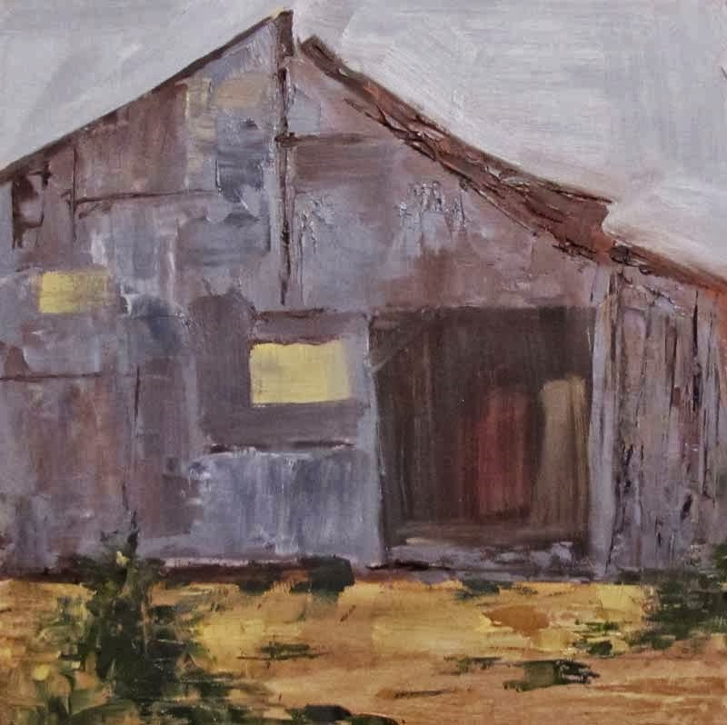 """Washington St. Barn"" original fine art by Helen Moreda"