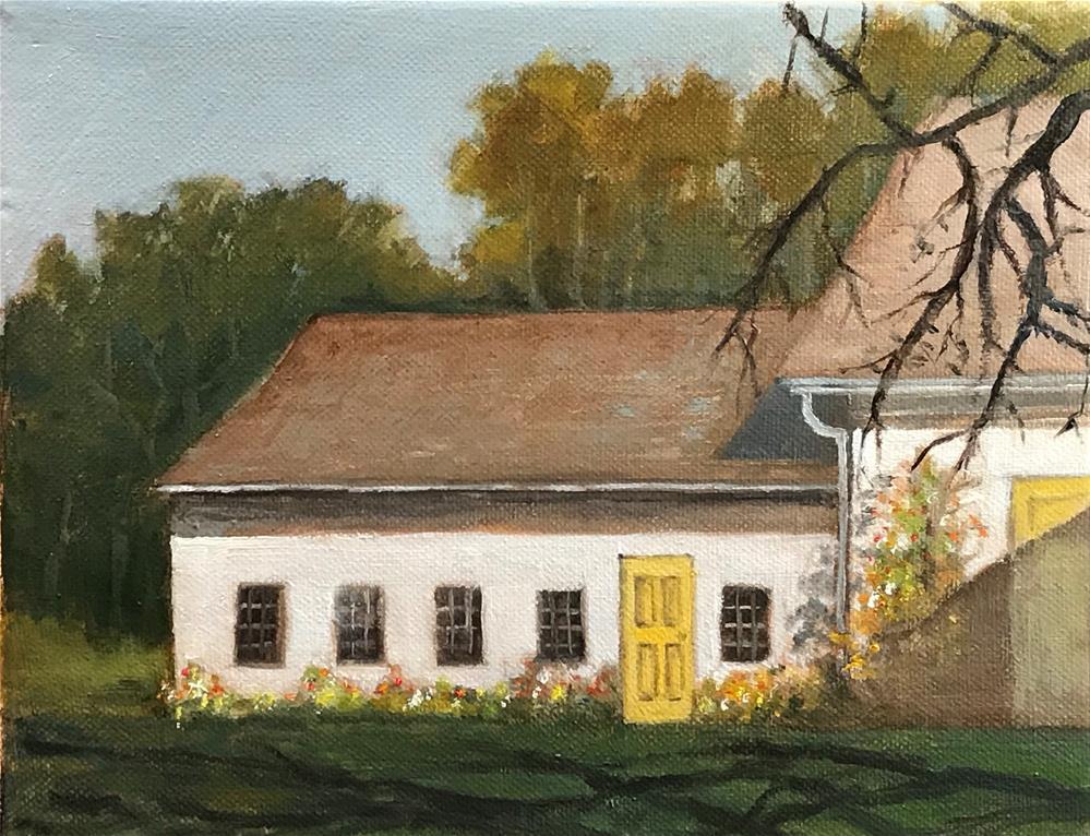 """""""Yellow door"""" original fine art by Betty Argiros"""