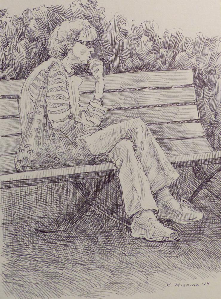 """500Faces-157"" original fine art by Katya Minkina"