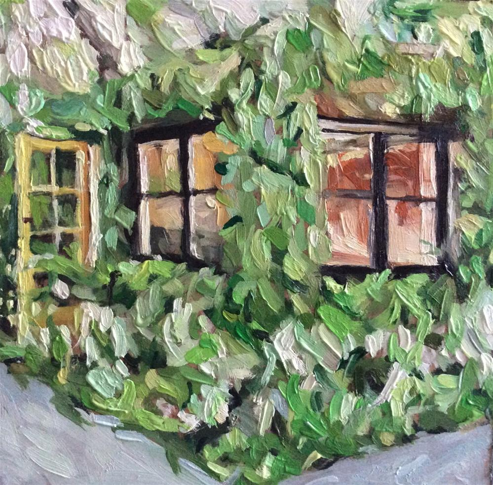 """Camouflaged Greenhouse"" original fine art by Paula Howson-Green"