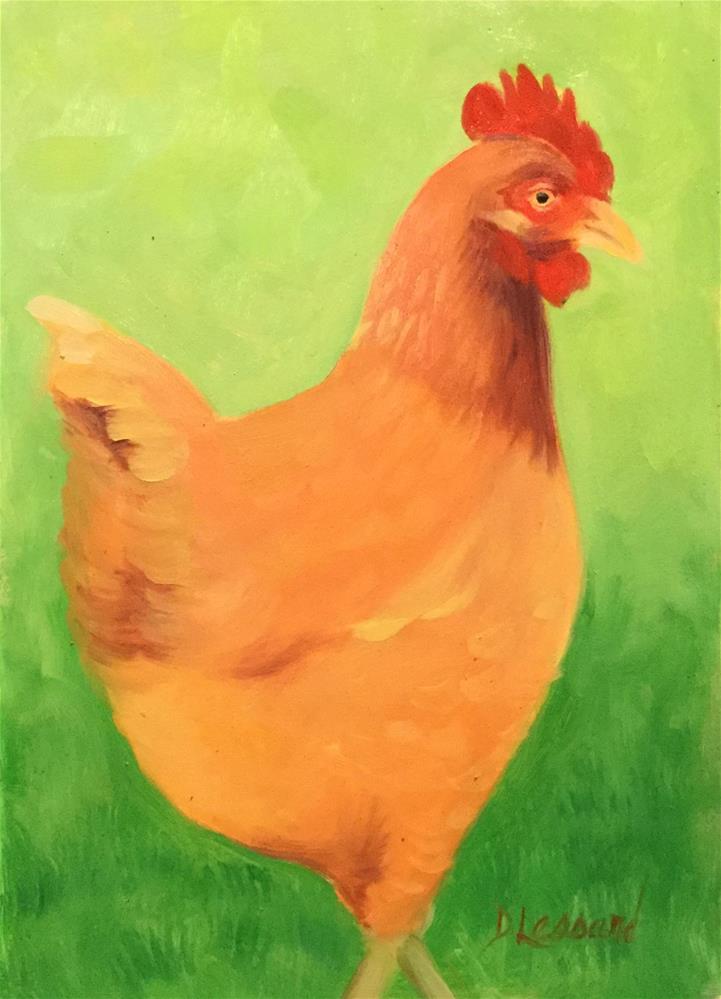 """""""Hot Chick"""" original fine art by Dee Lessard"""