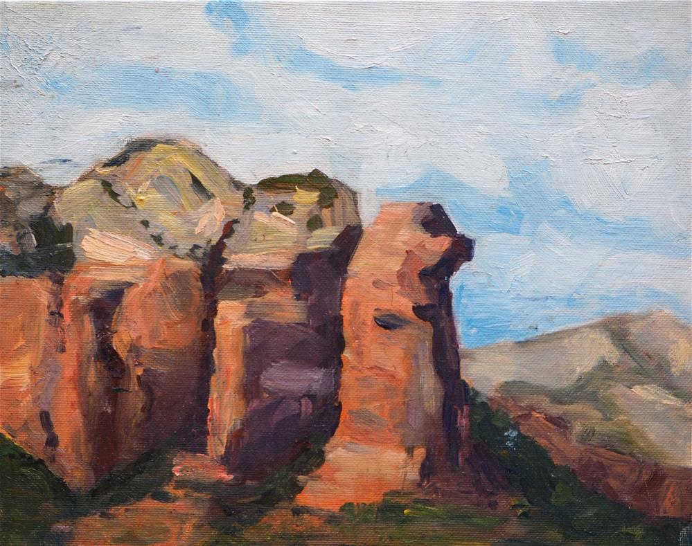 """Red Rocks in Sedona"" original fine art by Eva Grünwald"