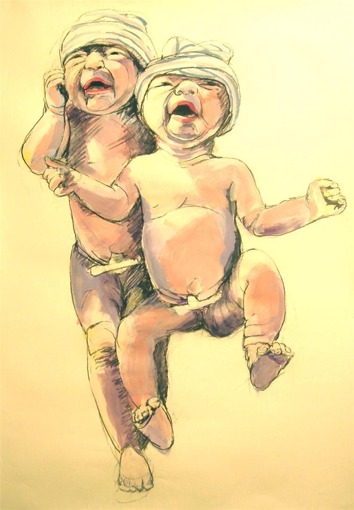 """Two Step"" original fine art by Linda Lowery"