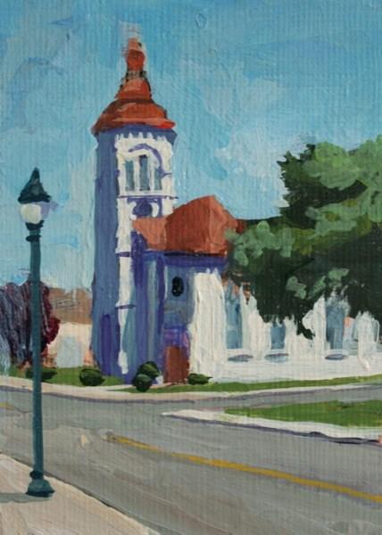 """Lake Street Elmira NY."" original fine art by Chris Breier"