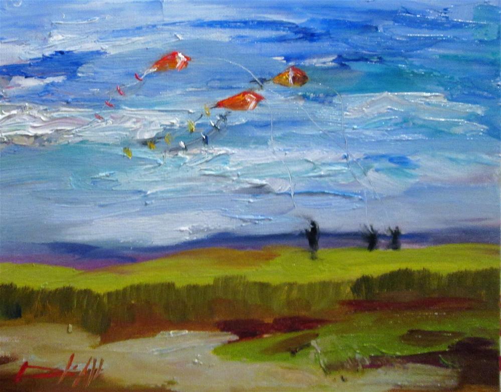 """Flying Kites"" original fine art by Delilah Smith"
