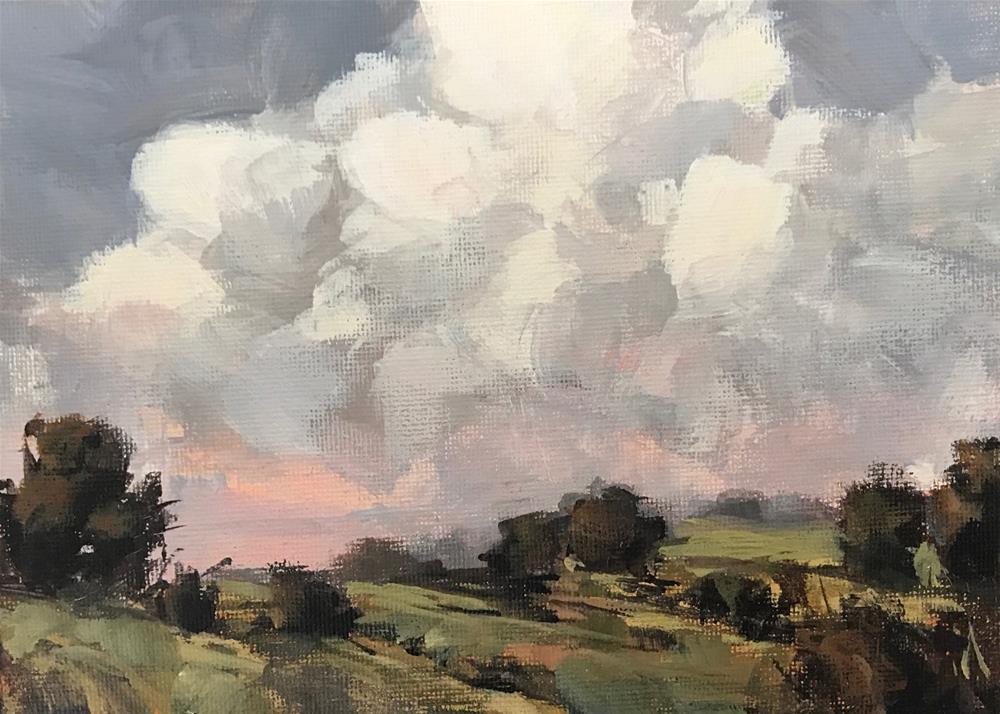"""Thursday On the Train"" original fine art by Shannon Bauer"