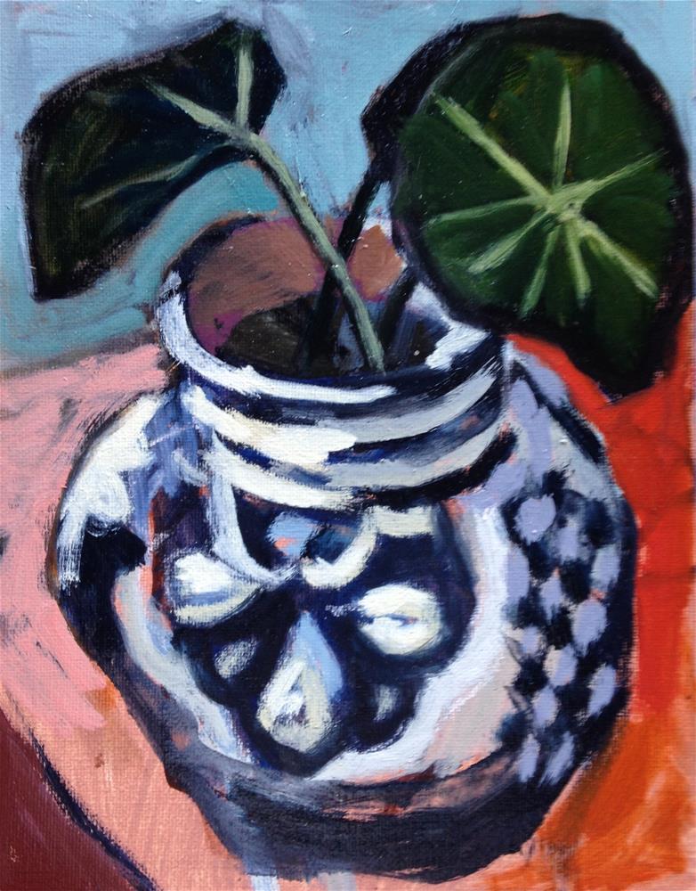 """""""Nasturtium Leaves"""" original fine art by Pamela Hoffmeister"""