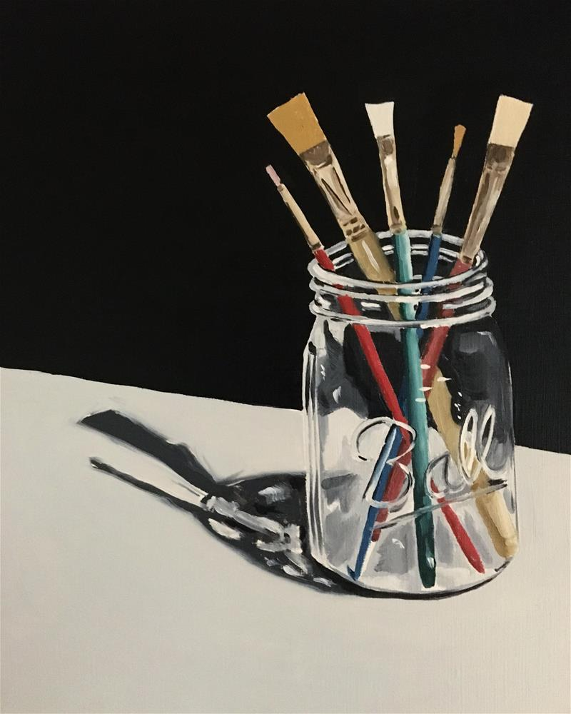 """""""Five Paint Brushes"""" original fine art by Anna Shikany"""