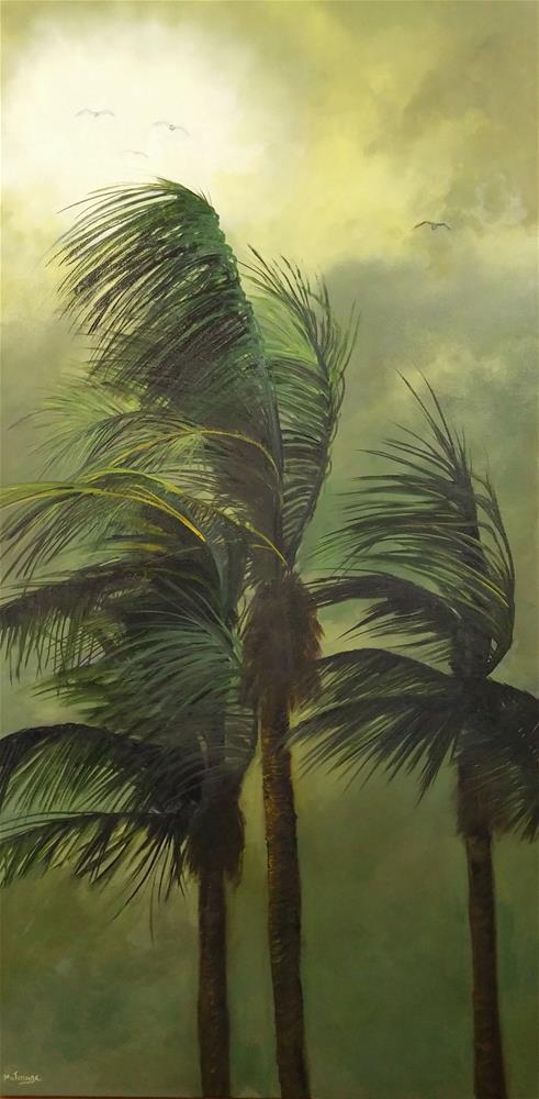 """Stormy in Green"" original fine art by Patricia Matranga"