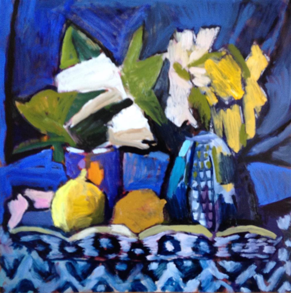 """""""Blue Velvet"""" original fine art by Pamela Hoffmeister"""