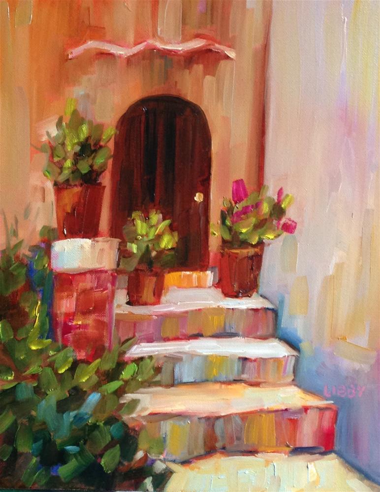 """Florence Door"" original fine art by Libby Anderson"