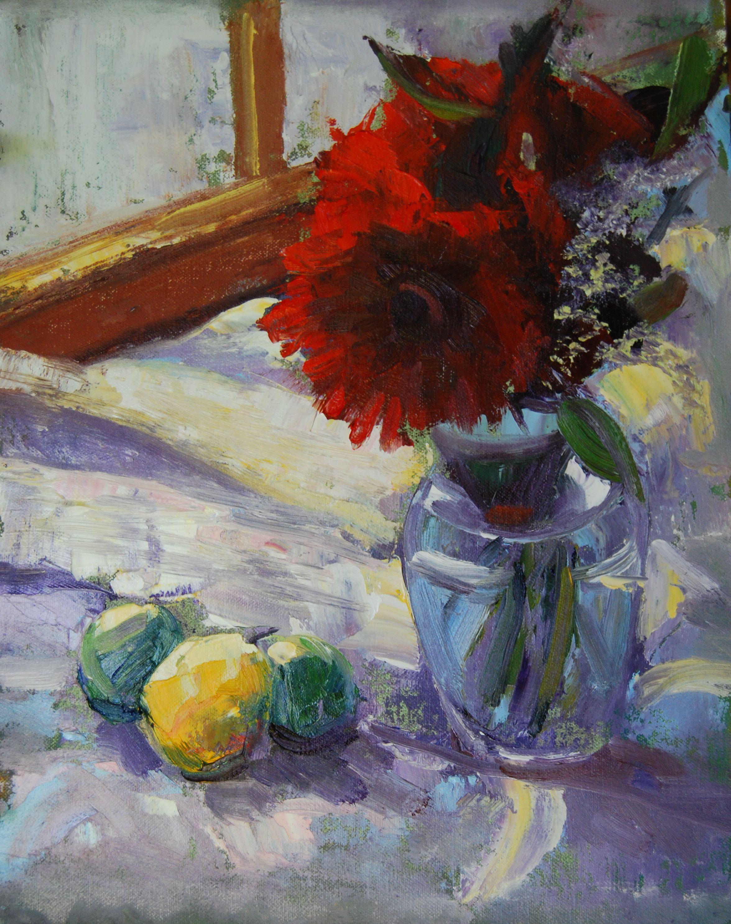 """""""Flowers for Linda"""" original fine art by Ann Feldman"""