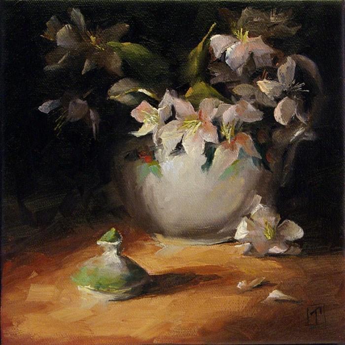 """""""Apple Blossoms"""" original fine art by Lori Twiggs"""