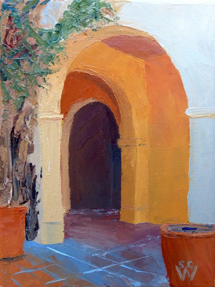 """Temple of Music & Art"" original fine art by Susan Woodward"