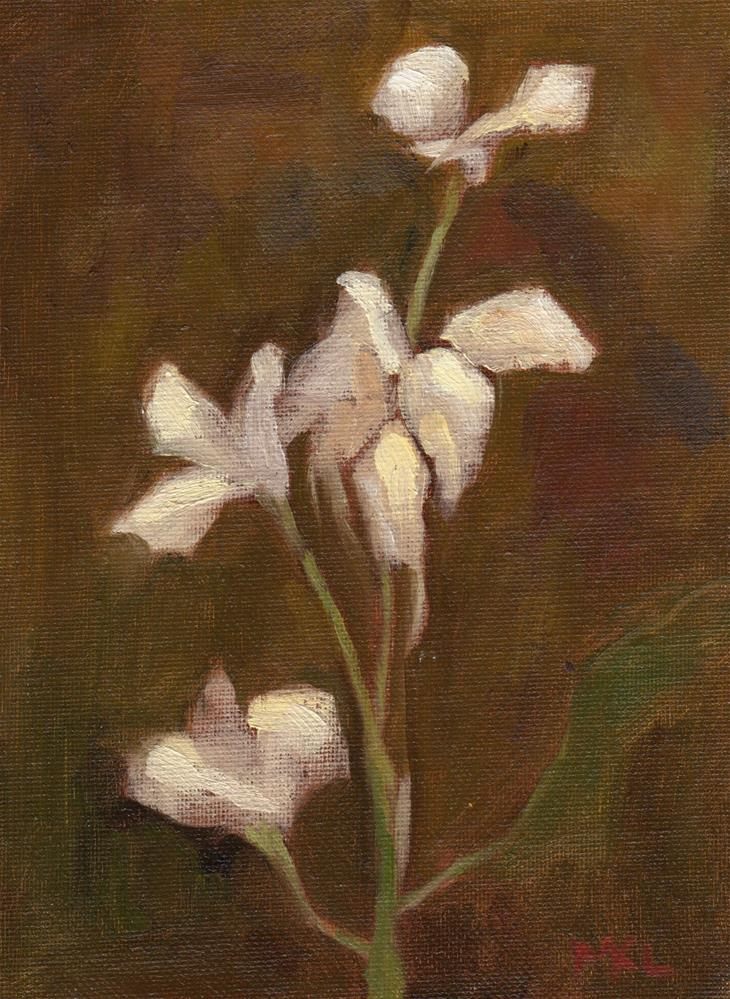 """White Flowers"" original fine art by Marlene Lee"