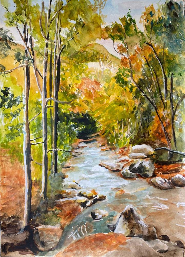 """Mountain Stream"" original fine art by Bunny Griffeth"