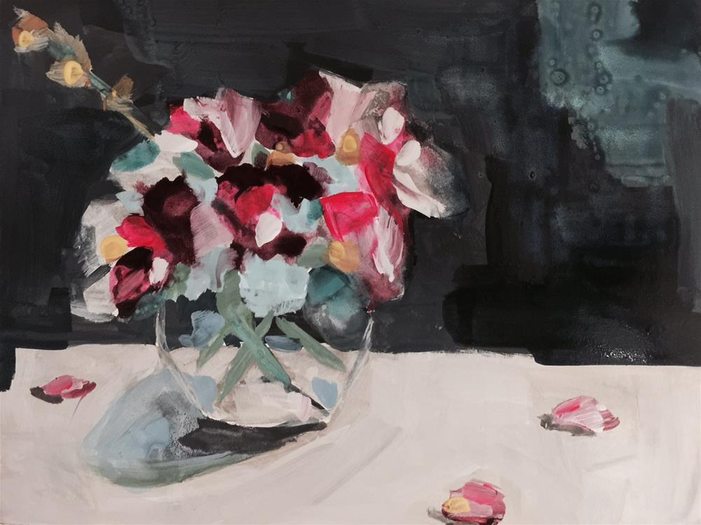 """""""393 Expressions in a Vase"""" original fine art by Jenny Doh"""