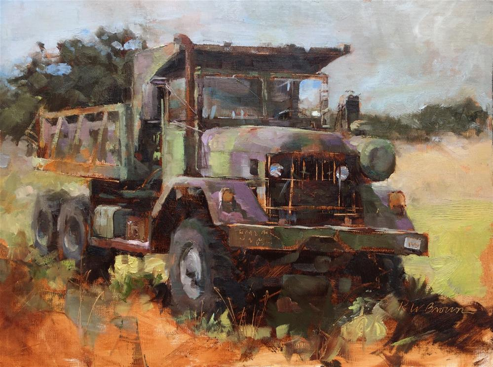 """Decommissioned "" original fine art by Krystal Brown"