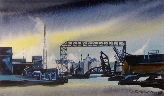 """Insights on Industry"" original fine art by Kathy Los-Rathburn"