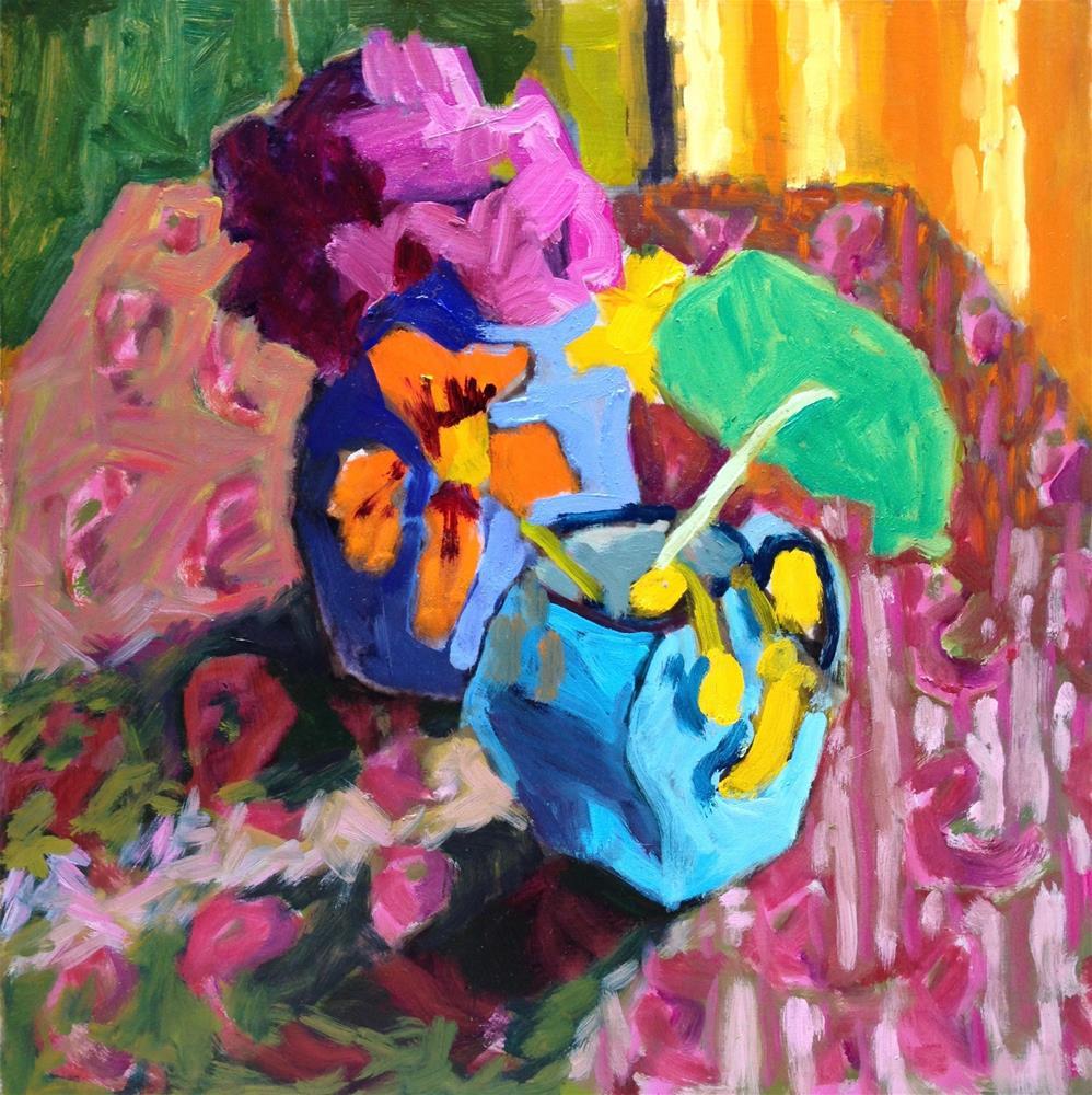 """""""Pink Shrimp"""" original fine art by Pamela Hoffmeister"""