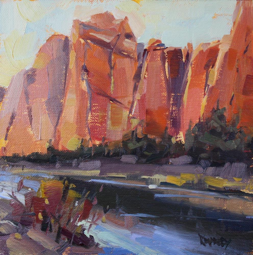 """Crooked River Evening, Smith Rock Oregon"" original fine art by Cathleen Rehfeld"