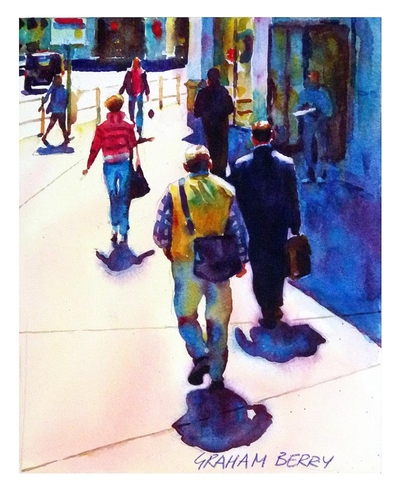 """Sunny corner."" original fine art by Graham Berry"